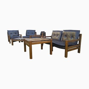 Mid-Century Scandinavian Living Room Set, 1970s, Set of 7