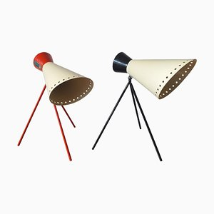 Lámparas de mesa Mid-Century de Josef Hurka para Napako, años 60. Juego de 2