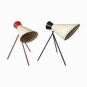Mid-Century Tischlampen von Josef Hurka für Napako, 1960er, 2er Set