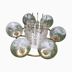 Large Mid-Century Chandelier or Ceiling Flush Mount by Pavel Grus for Kamenicky Senov, 1970s
