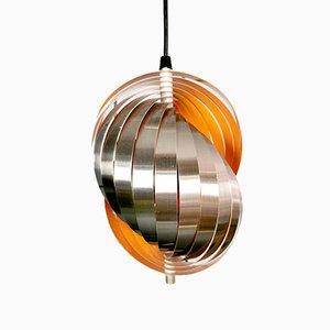 Twirling Pendant Lamp by Henri Mathieu for Lyfa, 1970s