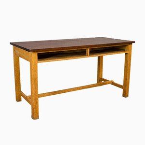 Vintage English Teak and Oak Lab Table, 1960s