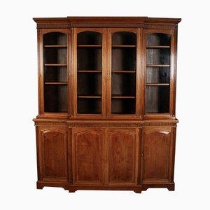 Large Glazed Walnut Bookcase by Jas Shoolbred