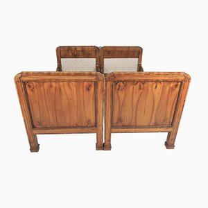 Biedermeier Cherrywood Beds, 1850s, Set of 2