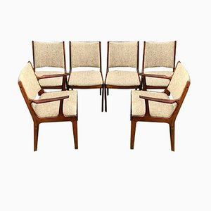 Mid-Century Danish Rosewood Dining Chairs by Johannes Andersen for Uldum Møbelfabrik, 1960s, Set of 6