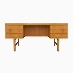Vintage Ash Veneer Model 76 Desk from Omann Jun, 1970s