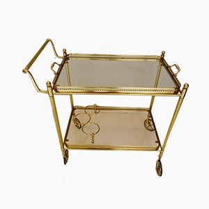 Antique Neoclassical Style Golden Trolley