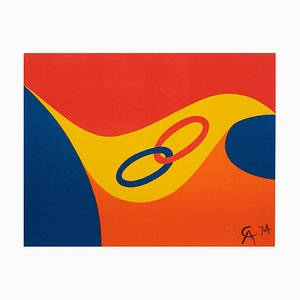 Friendship Limited Edition Lithographie von Alexander Calder, 1974