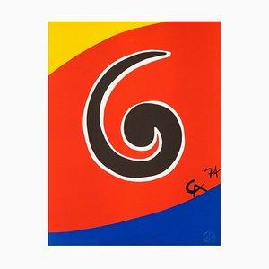 Litografía Swirl edición limitada de Alexander Calder, 1974