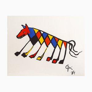 Litografía Beastie de edición limitada de Alexander Calder, 1974