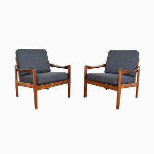 Dänische Mid-Century Sessel von Illum Wikkelsø für Niels Eilersen, 1960er, 2er Set