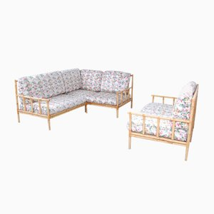 Bamboo Sofas, 1970s, Set of 2
