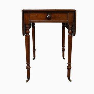 Antique Regency English Mahogany Drop Leaf Pembroke Table