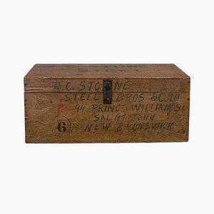 Antique Victorian Canadian Mahogany Merchants Tool Chest Trunk