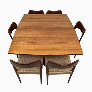 Table de Salle à Manger Extensible en Teck, 1960s