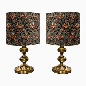 Golden Table Lamps from Staff, 1960s, Set of 2
