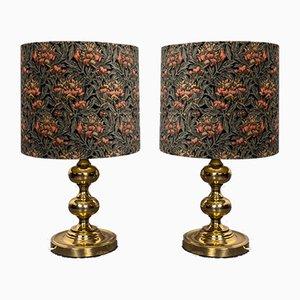 Goldene Tischlampen von Staff, 1960er, 2er Set