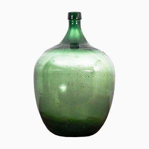 Grüne Glasvase, 1950er