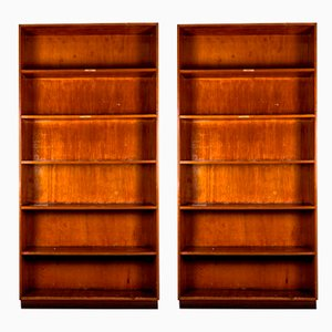 Brown Archive Shelves, 1940s, Set of 2