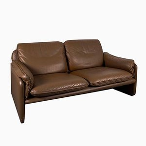 Brown Leather DS 61 2-Seat Sofa from de Sede, 1960s