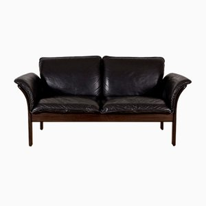 Vintage Mahogany Wood Couch from Dreipunkt Scala