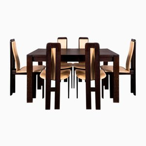 Mid-Century Dining Table & Chairs Set in the Style of Pietro Costantini, 1970s