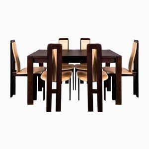 Mid-Century Esstisch & Stühle im Stil von Pietro Costantini, 1970er
