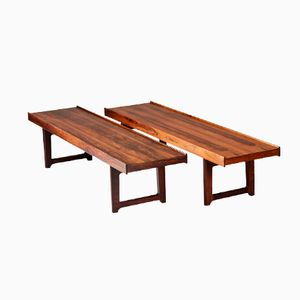 """Krobo"" Rosewood Benches by Torbjørn Afdal for Mellemstrand, Set of 2"