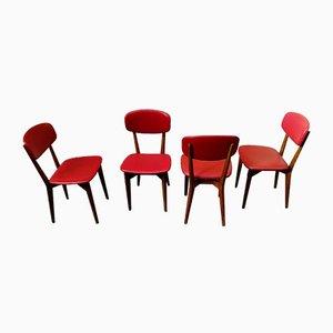 Teak Modell 691 Esszimmerstühle von Ico Luisa Parisi für Cassina, 1950er, 4er Set