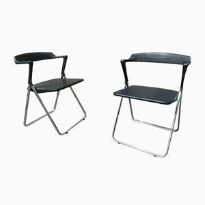 Stackable Model Comput Folding Chairs from Skipper, 1970s, Set of 3