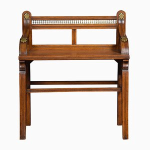 Antique Oak Hall Stool from James Shoolbred & Co
