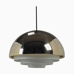 Danish Brass Milieu Pendant Lamp by Jo Hammersborg for Fog & Mørup, 1960s