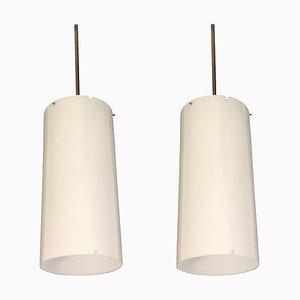 Lampes à Suspension par Erik Møller pour Louis Polsen & Co., 1960s, Set de 2