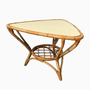 Vintage Rattan and Formica Coffee Table, 1970s