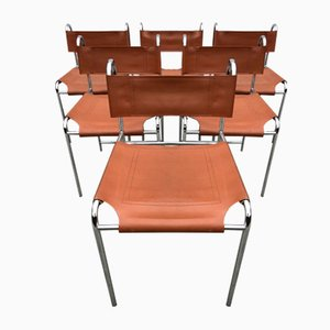 Dining Chairs in the Style of Giovanni Carini, 1960s, Set of 6