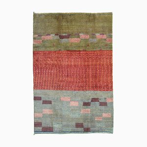 Middle Eastern Nomadic Hand-Knotted Woolen Carpet, 1990s