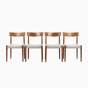 Mid-Century Swedish Teak Dining Chairs from Hugo Troeds, Set of 4