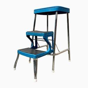 Vintage Blue Model D418 Folding Step Ladder from Prestige