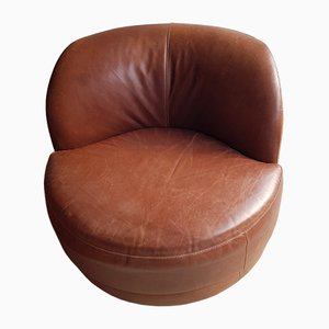 Vintage Leather Lounge Chair from Sofitalia