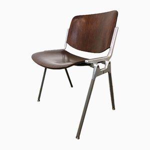 Rosewood Model 106 Desk Chair by Giancarlo Piretti for Castelli / Anonima Castelli, 1960s