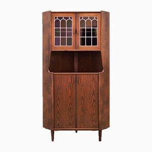 Mid-Century Danish Oak Corner Cabinet, 1960s