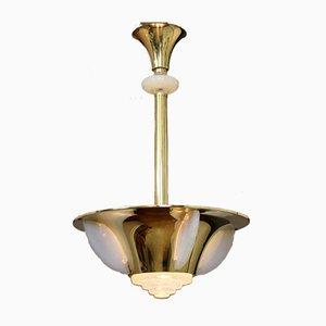 Art Deco Deckenlampe im Stil von Jean Perzel, 1930er