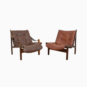 Mid-Century Norwegian Lounge Chairs by Torbjørn Afdal for Bruksbo, 1960s, Set of 2