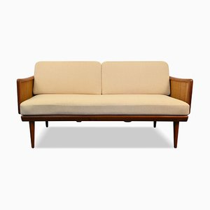 Vintage Teak FD451 2-Sitzer Sofa von Peter Hvidt & Orla Mølgaard-Nielsen für France & Søn / France & Daverkosen