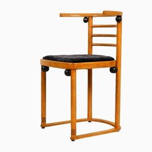 Austrian Solid Oak Bat Chair by Josef Hoffmann for Wittmann, 1950s