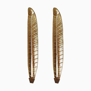 Mid-Century Murano Gold Leaf Sconces in the Style of Barovier & Toso, 1970s, Set of 2