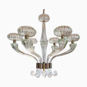 Großer Mid-Century Murano Glas Kronleuchter im Stil von Barovier & Toso, 1960er