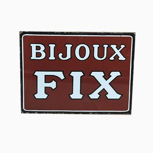 Double Sided Enamel Bijoux Fix Sign, 1920s
