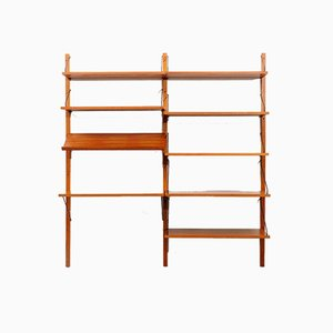 Teak Royal Shelf System with Desk by Poul Cadovius for Cado, 1960s