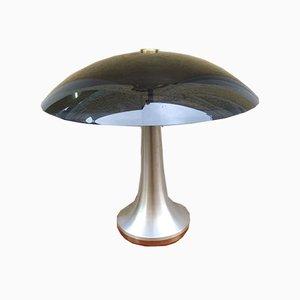 Schwarze Aluminium Tischlampe von Stilux Milano, 1960er